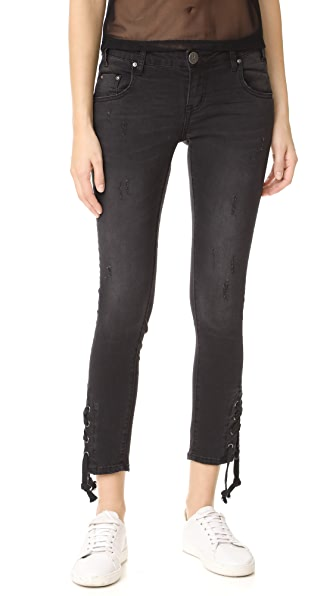 One Teaspoon Paris Tie Side Freebird II Jeans