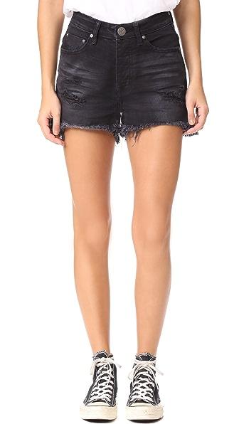One Teaspoon Hawk Shorts - Black Anchor