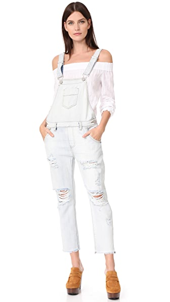 One Teaspoon Diamonde Awesome Overalls - Diamond Wash