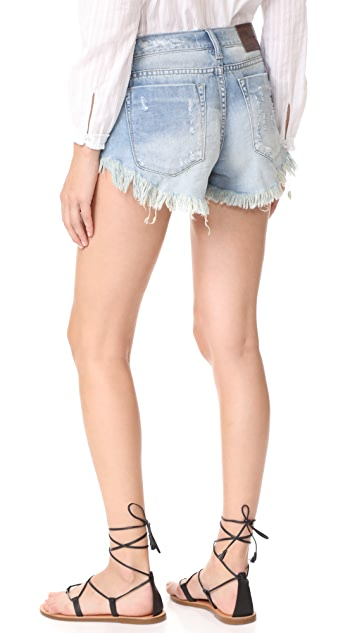 One Teaspoon Blue Jane Bonita Shorts