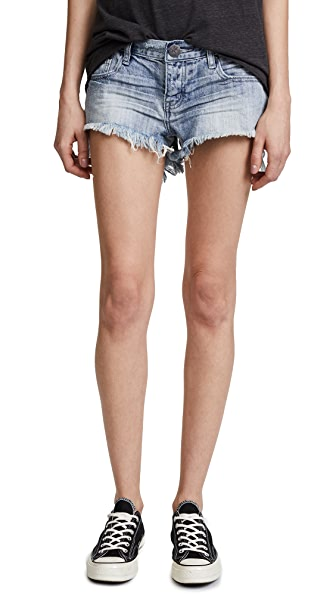 One Teaspoon Low Waist Bonita Shorts In Diamonde