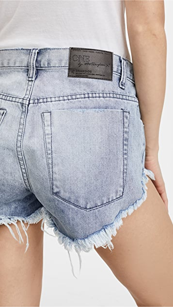 One Teaspoon Brandos Relaxed Shorts