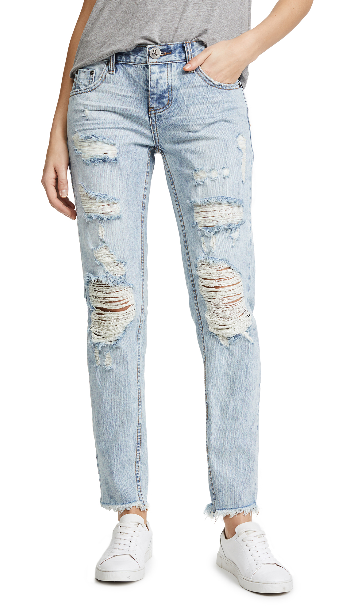 One Teaspoon Awesome Baggies Jeans In Blue Hart