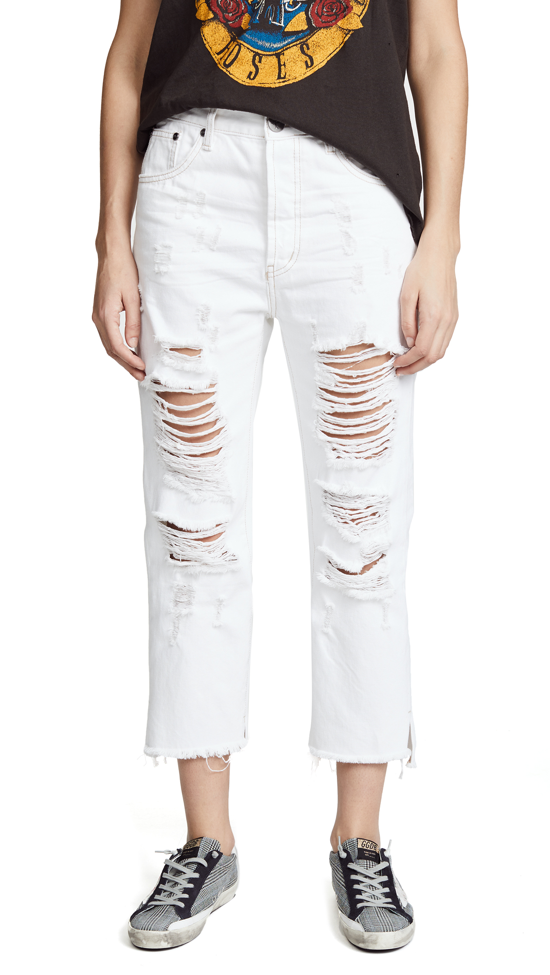 One Teaspoon Low Waist Hooligans Jeans In Cococash