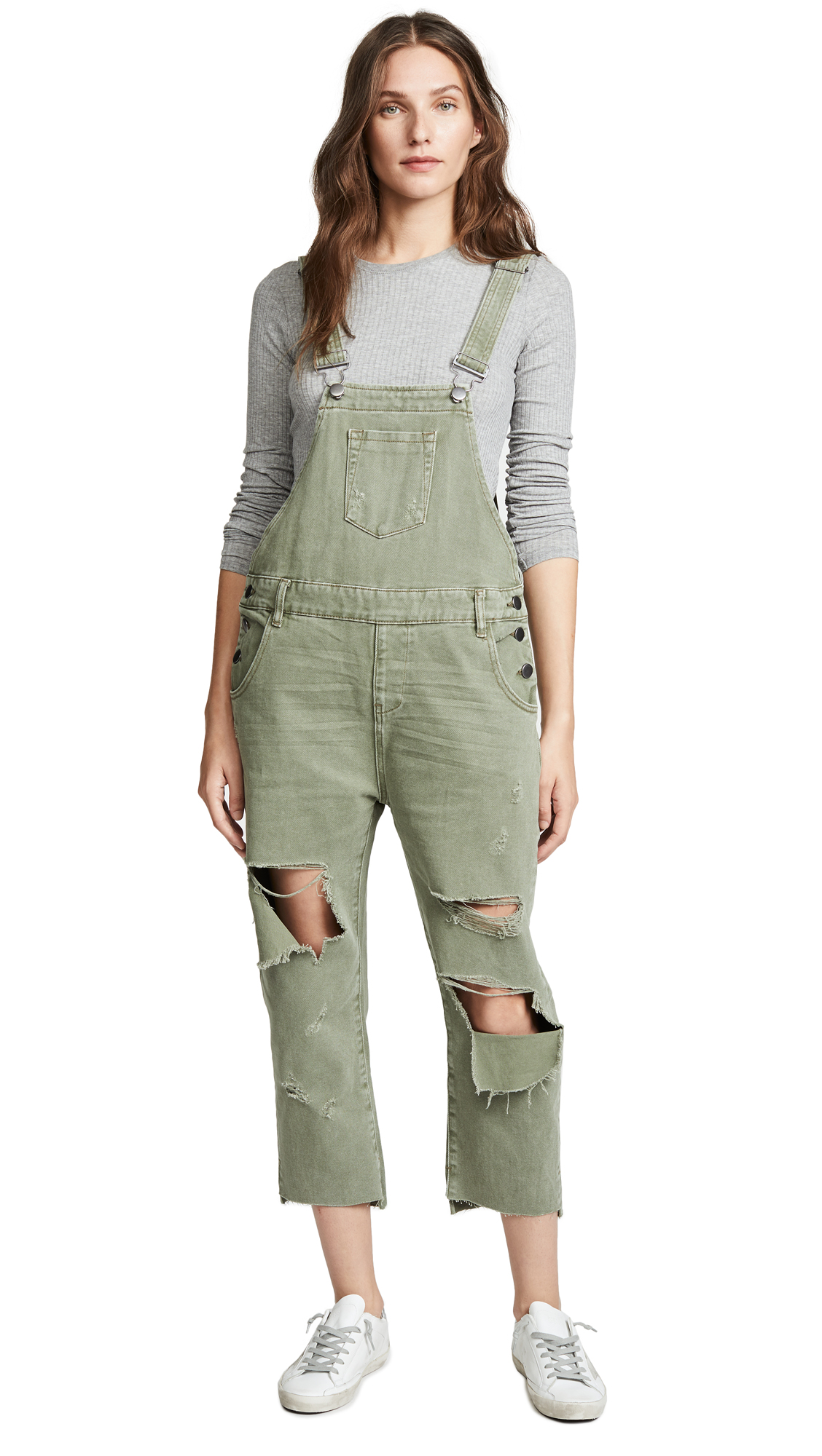 One Teaspoon Hooligan Overalls In Super Khaki