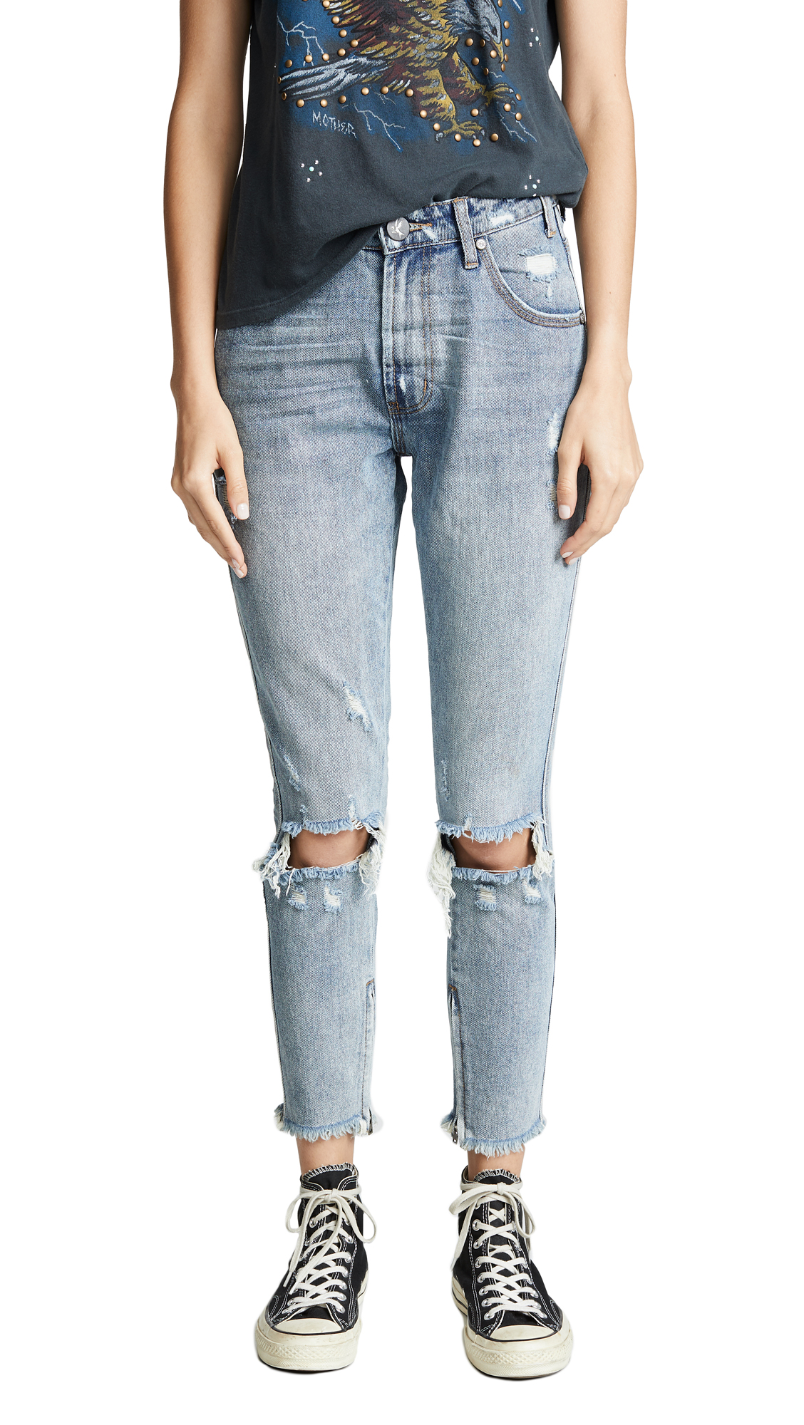 One Teaspoon Storm Boy Freebirds High Waist Skinny Jeans In Storm Boy