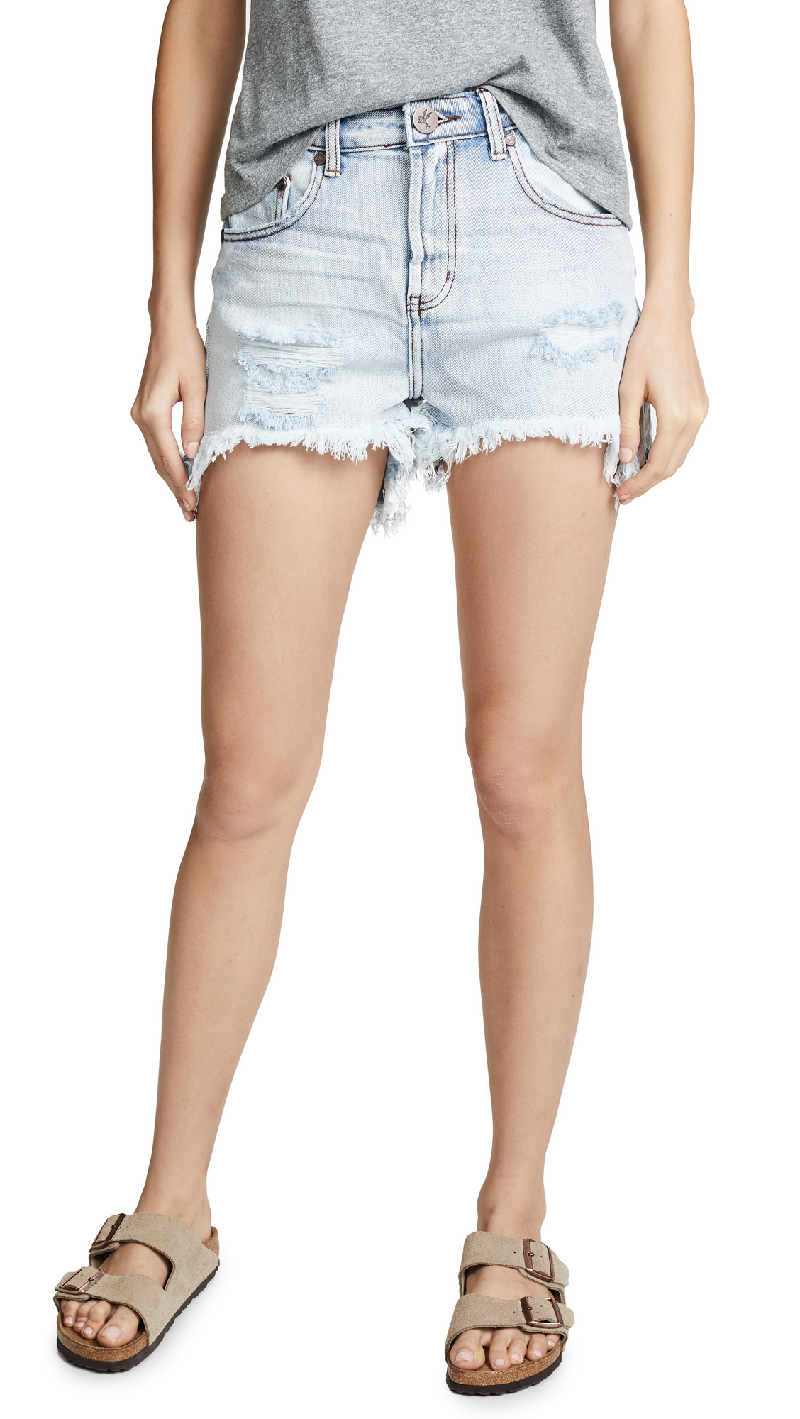 One Teaspoon Legend High Waist Mom Fit Shorts
