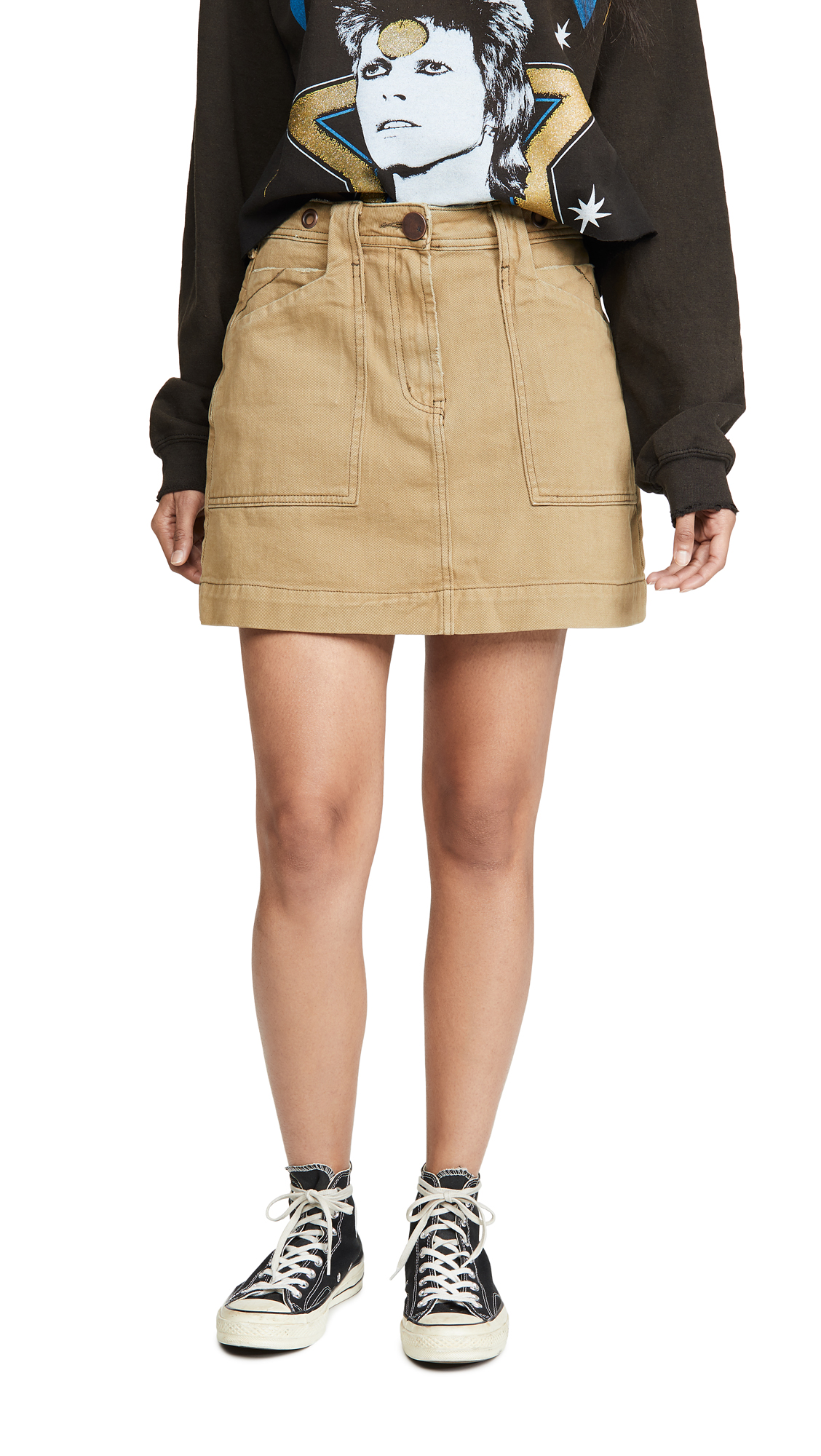 Buy One Teaspoon online - photo of One Teaspoon Khaki Great Escape Worker Skirt