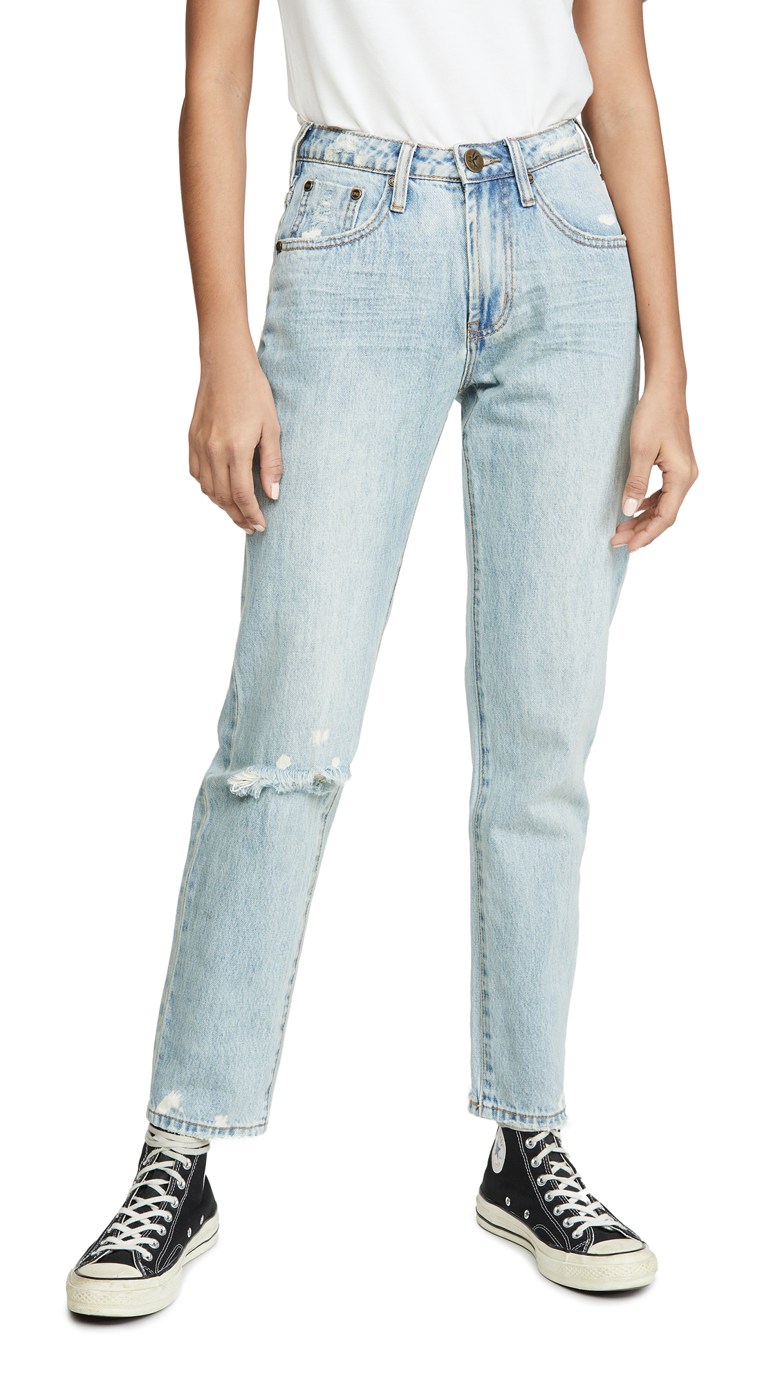 Buy One Teaspoon online - photo of One Teaspoon Awesome Baggies High Waist Straight Leg Jeans