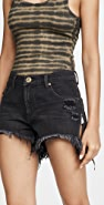 One Teaspoon Marlons Low Waist Boyfriend Denim Shorts