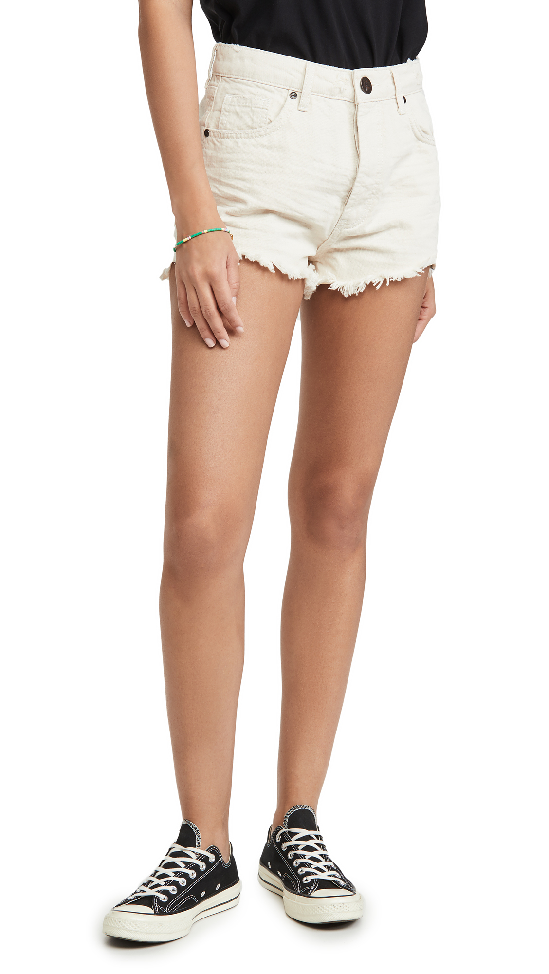 Buy One Teaspoon online - photo of One Teaspoon Outlaws Mid Length Denim Shorts