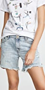 One Teaspoon Stevies Long Length Boyfriend Shorts