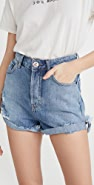 One Teaspoon Bandits High Waist Denim Shorts