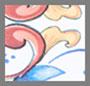 изящный плиточный рисунок мульти