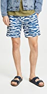 Onia Calder 7.5 Printed Swim Trunks