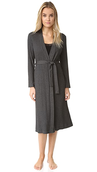 Only Hearts Wide Wale Rib Robe - Charcoal