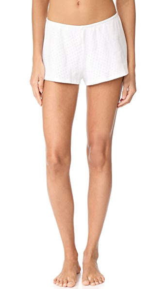Only Hearts Pointelle Sleep Shorts - White
