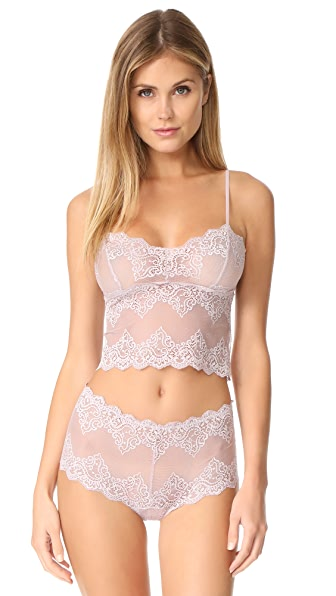 Only Hearts So Fine Lace Cami In Pale Rose
