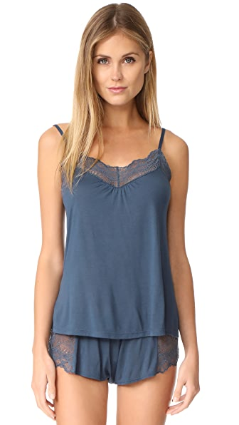Only Hearts Venice Low Back Cami In Petrol