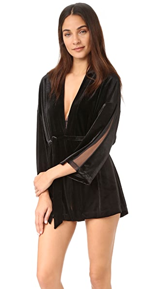 Only Hearts Velour Underground Kimono In Black