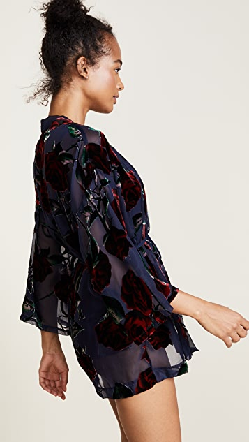 Only Hearts Red Rose Kimono
