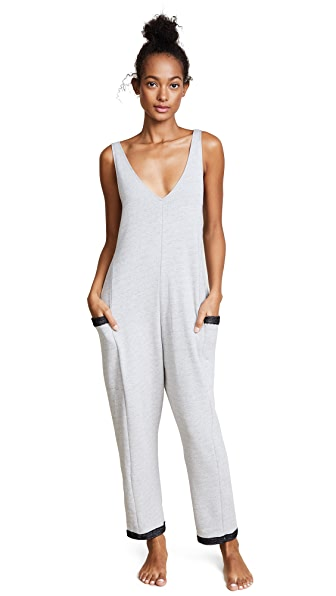 Only Hearts French Terry Tank Jumpsuit In Dark Grey