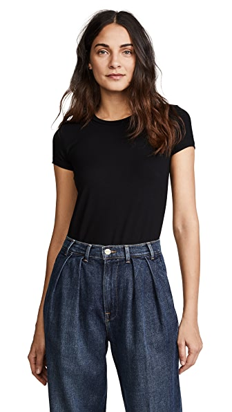 Only Hearts So Fine Layering T-Shirt Bodysuit In Black