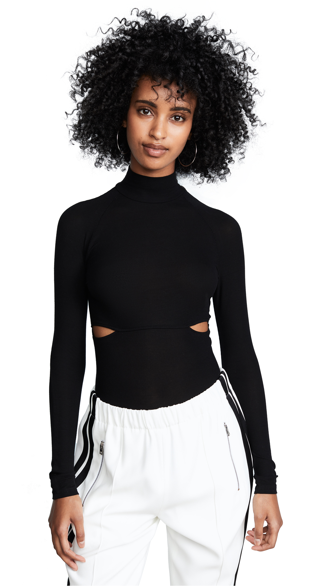 ONLY HEARTS SLASH MOCK NECK BODYSUIT
