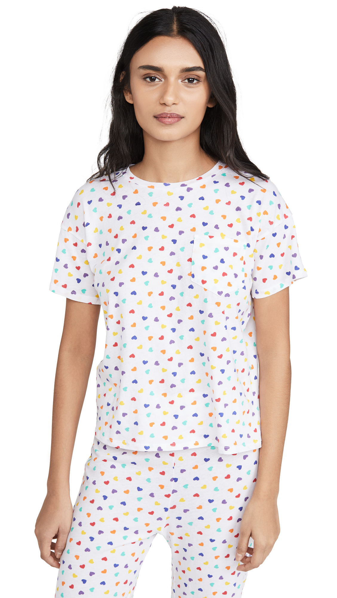 Buy Only Hearts online - photo of Only Hearts Rainbow Heart Short Sleeve PJ Top