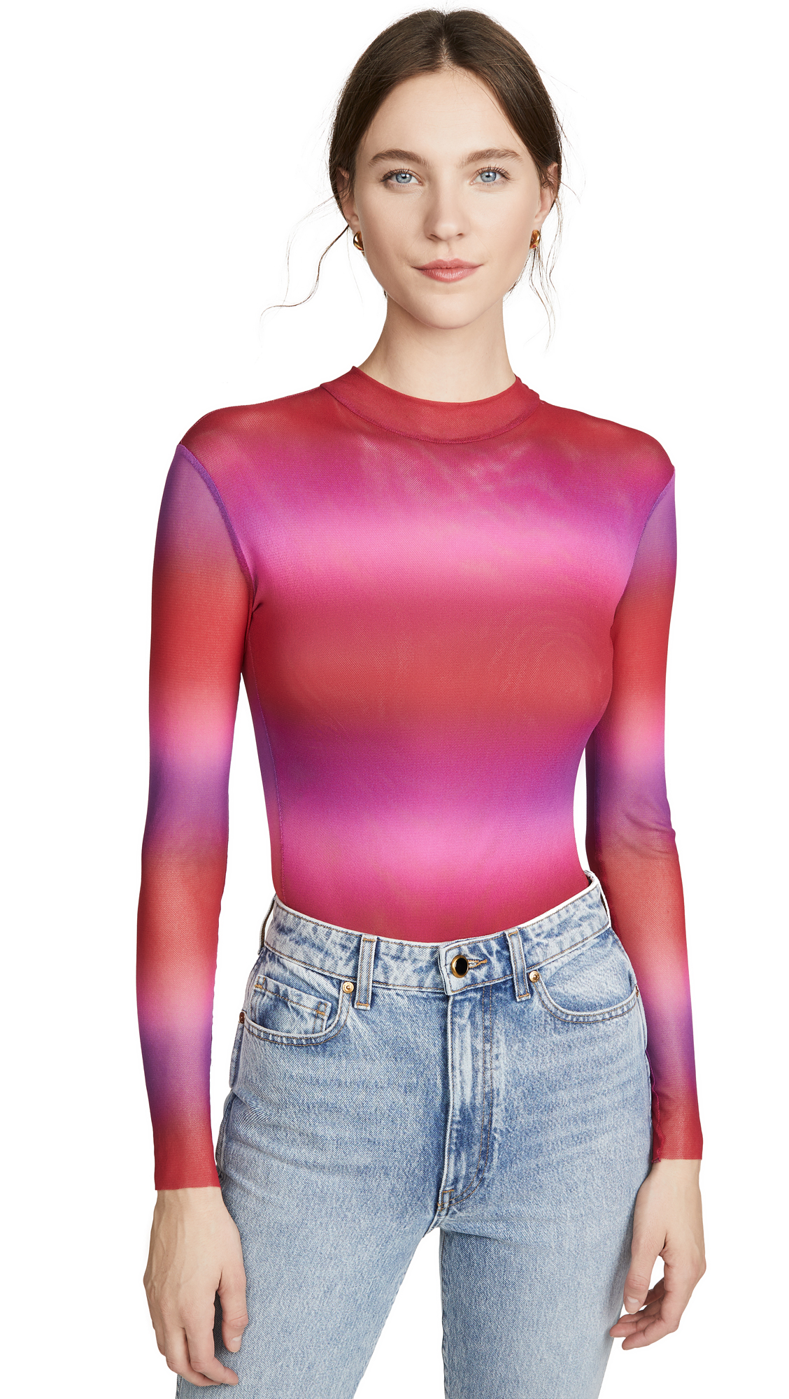 Buy Only Hearts online - photo of Only Hearts Ombre Mock Neck Thong Bodysuit