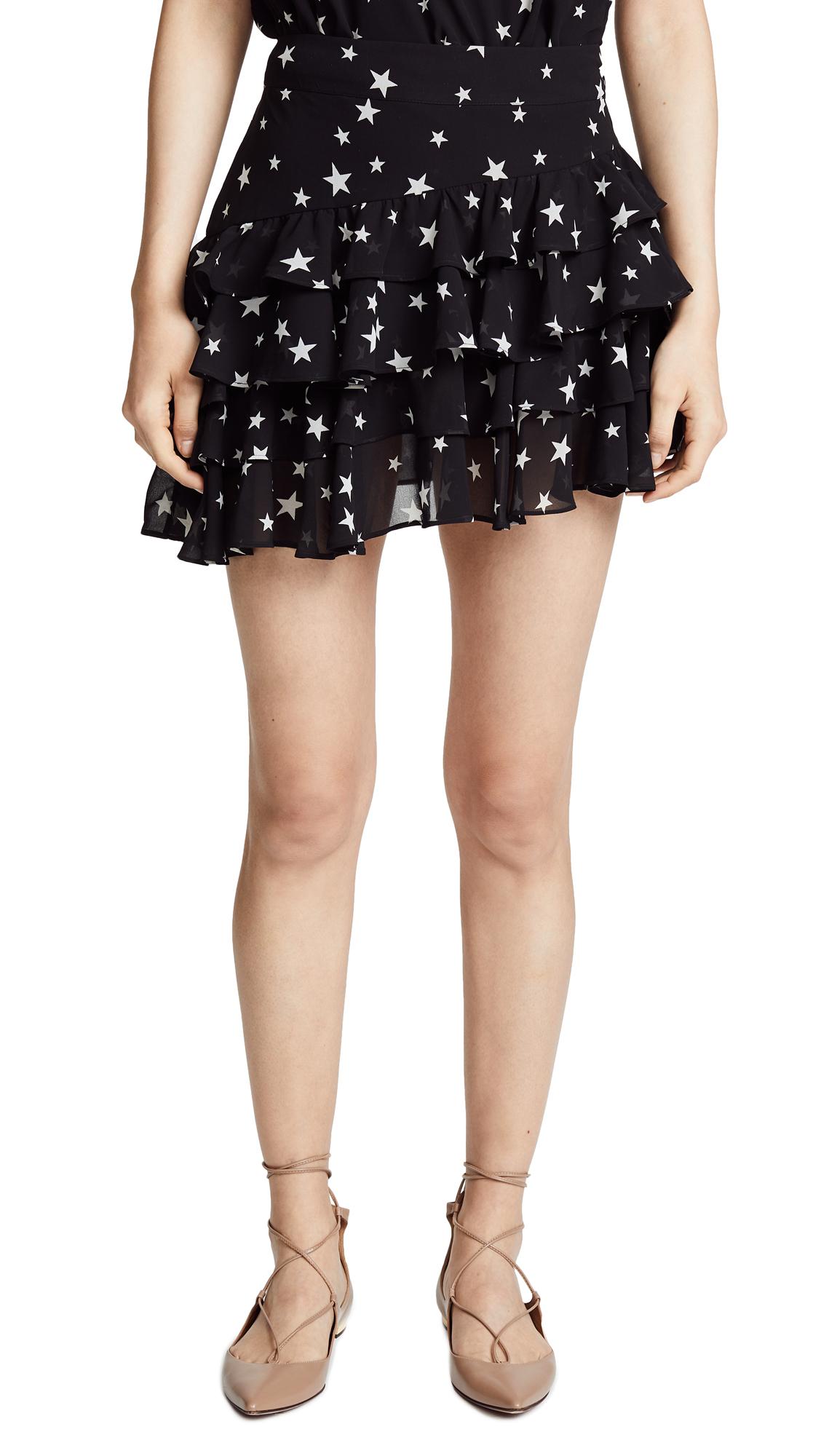 Valencia & Vine Jenny Miniskirt In Star Print