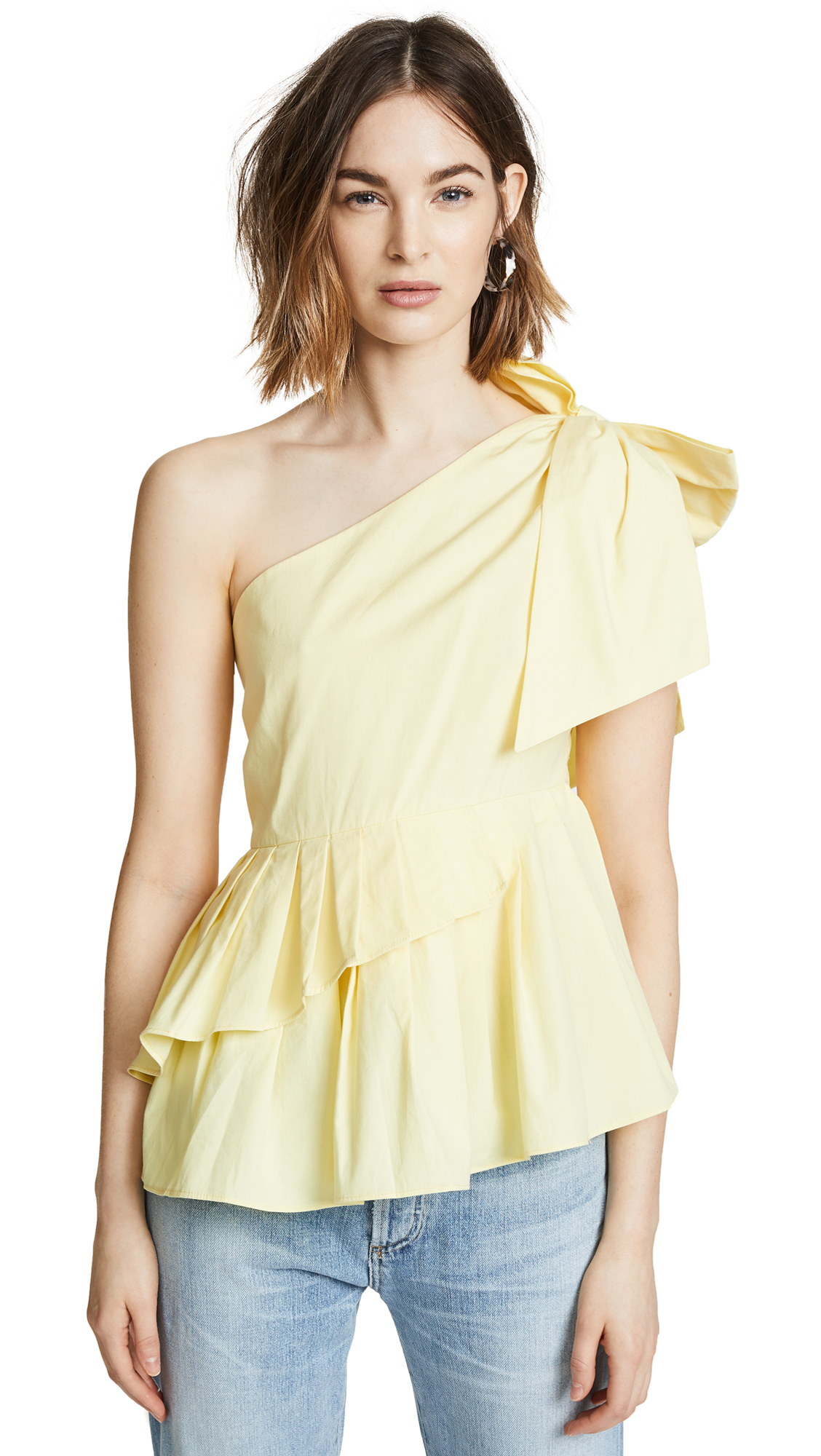 VALENCIA & VINE JENN ONE SHOULDER BOW TOP