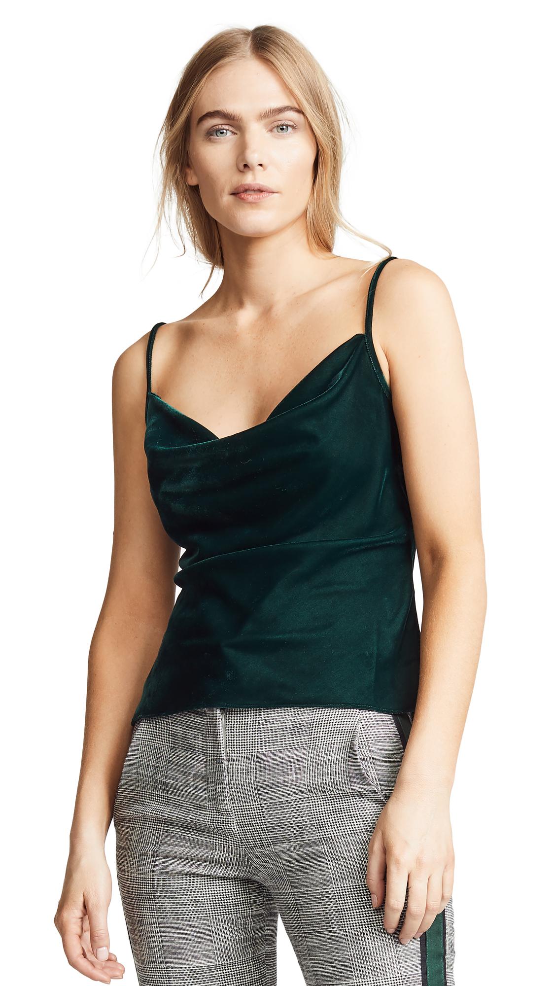 VALENCIA & VINE Velvet Cami in Emerald Green