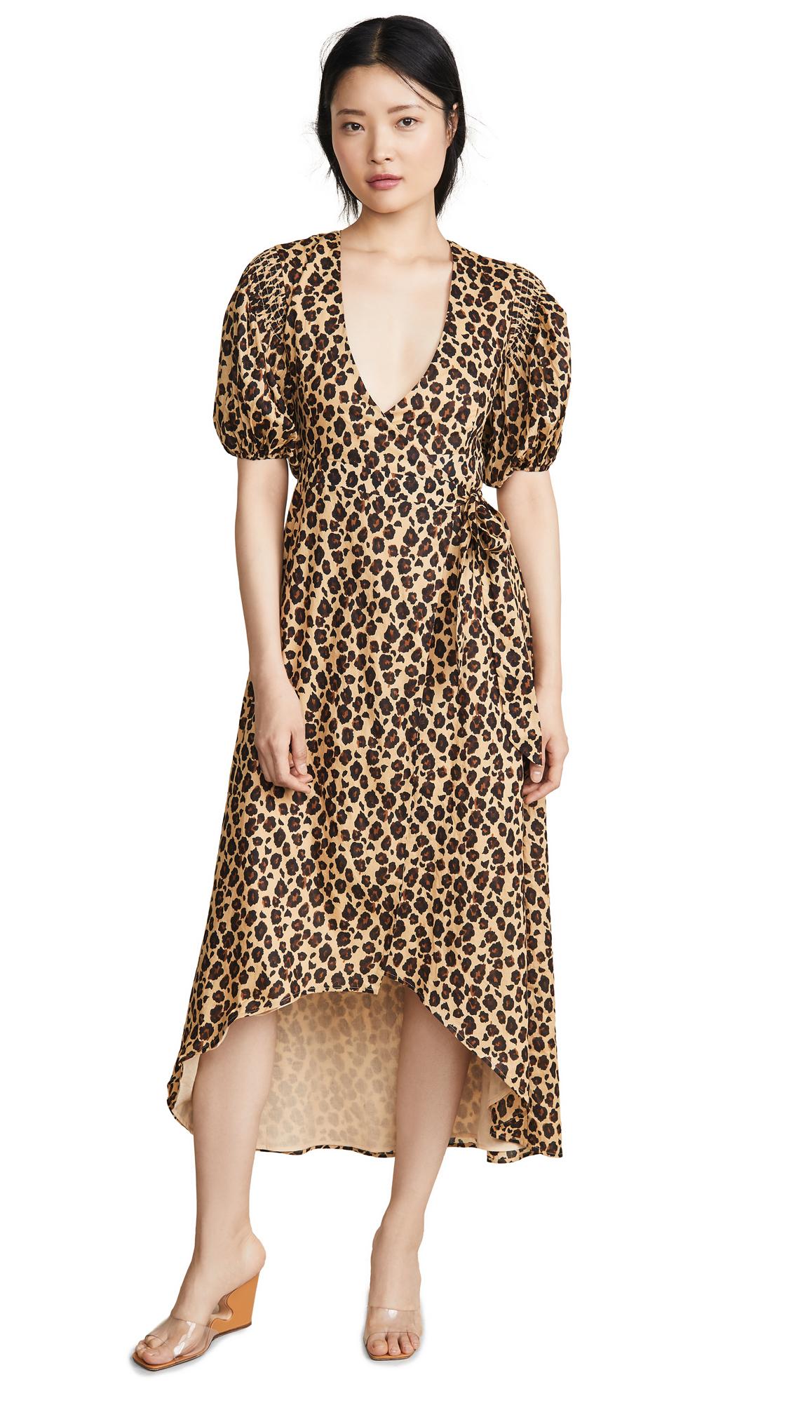 b0a184d500c Valencia   Vine Платье с запахом и леопардовым принтом