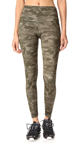 Onzie Moss Camo High Rise Leggings - Moss Camo