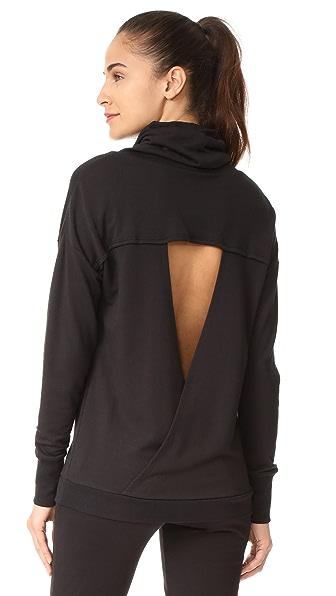 Onzie Tulip Back Cowl Neck Sweatshirt - Black