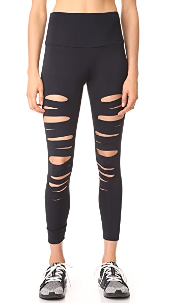 High Rise Shred Midi Leggings