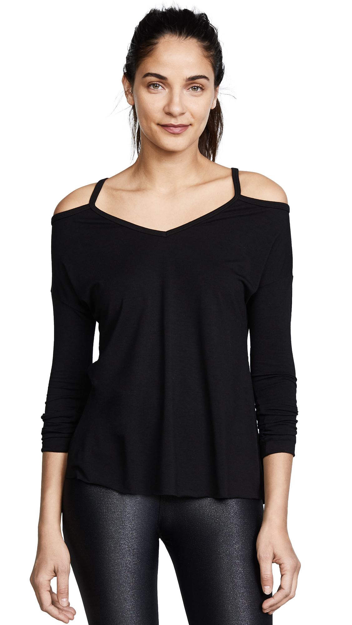 Onzie Cold Shoulder Top - Black