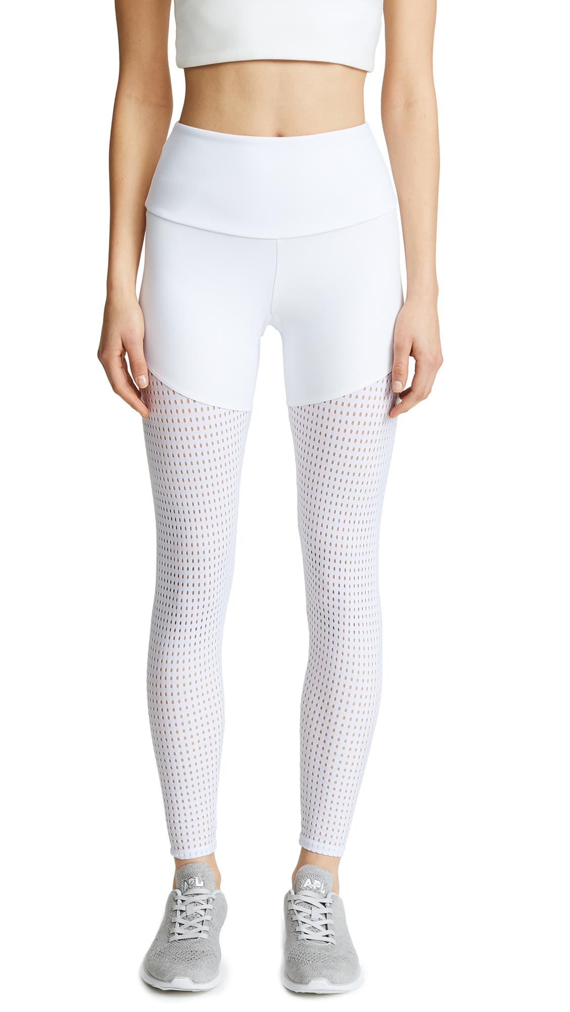 Onzie Half/Half 2.0 Leggings In White