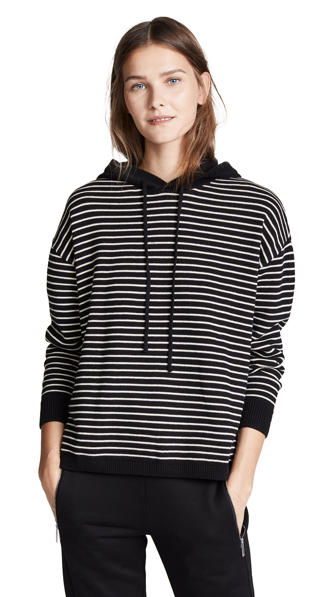 Onzie Striped Hoodie In Black