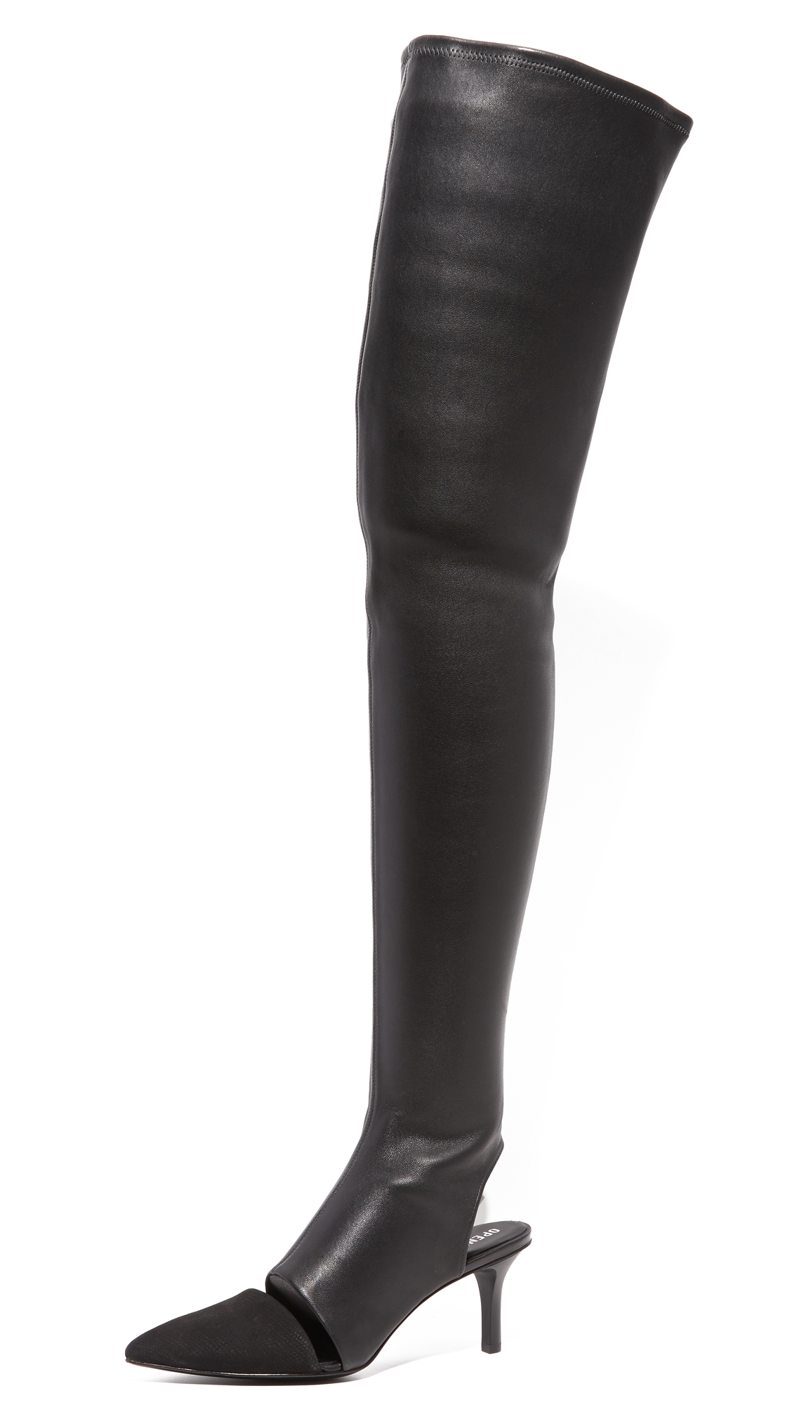 opening ceremony female opening ceremony genevoise thigh high boots black