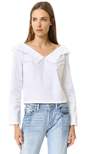 Opening Ceremony Off Shoulder Top - White