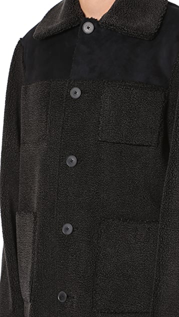 Opening Ceremony Eco Sherpa Reversible Overcoat