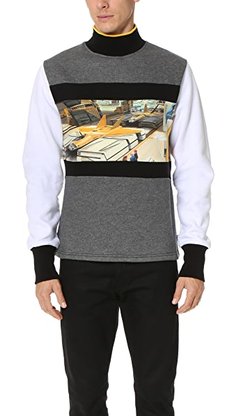 Opening Ceremony Jet Fighter Mockneck Sweatshirt