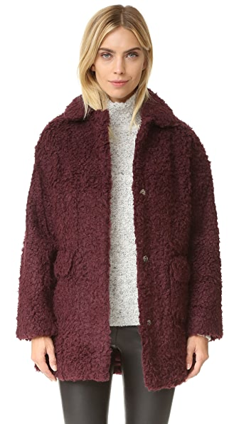 Opening Ceremony Mariko Faux Shearling Coat