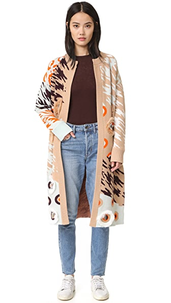 Opening Ceremony Animal Cardigan Sweater - Desert