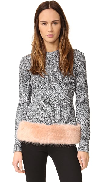 Opening Ceremony Faux Fur Pullover - Desert