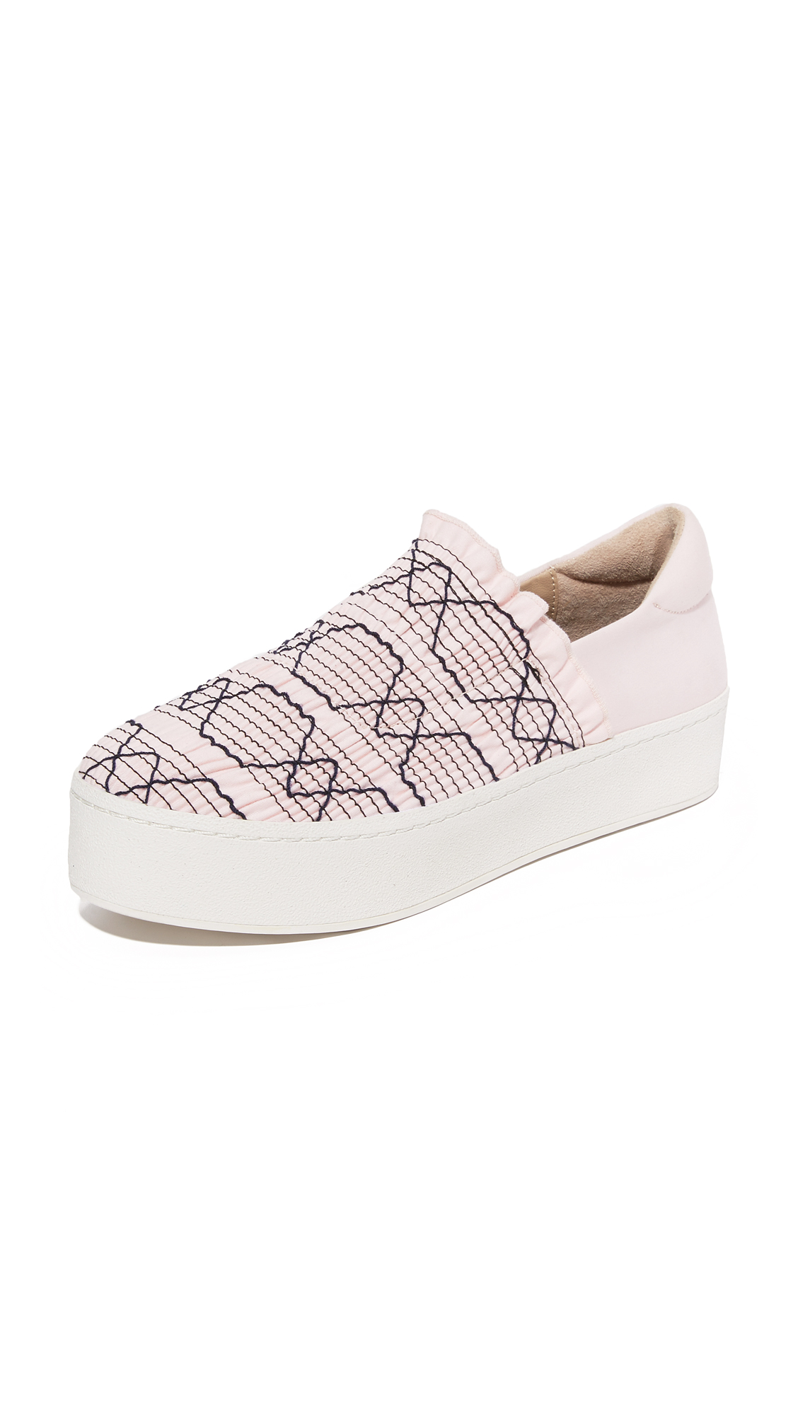 opening ceremony female opening ceremony cici woven platform sneakers peony