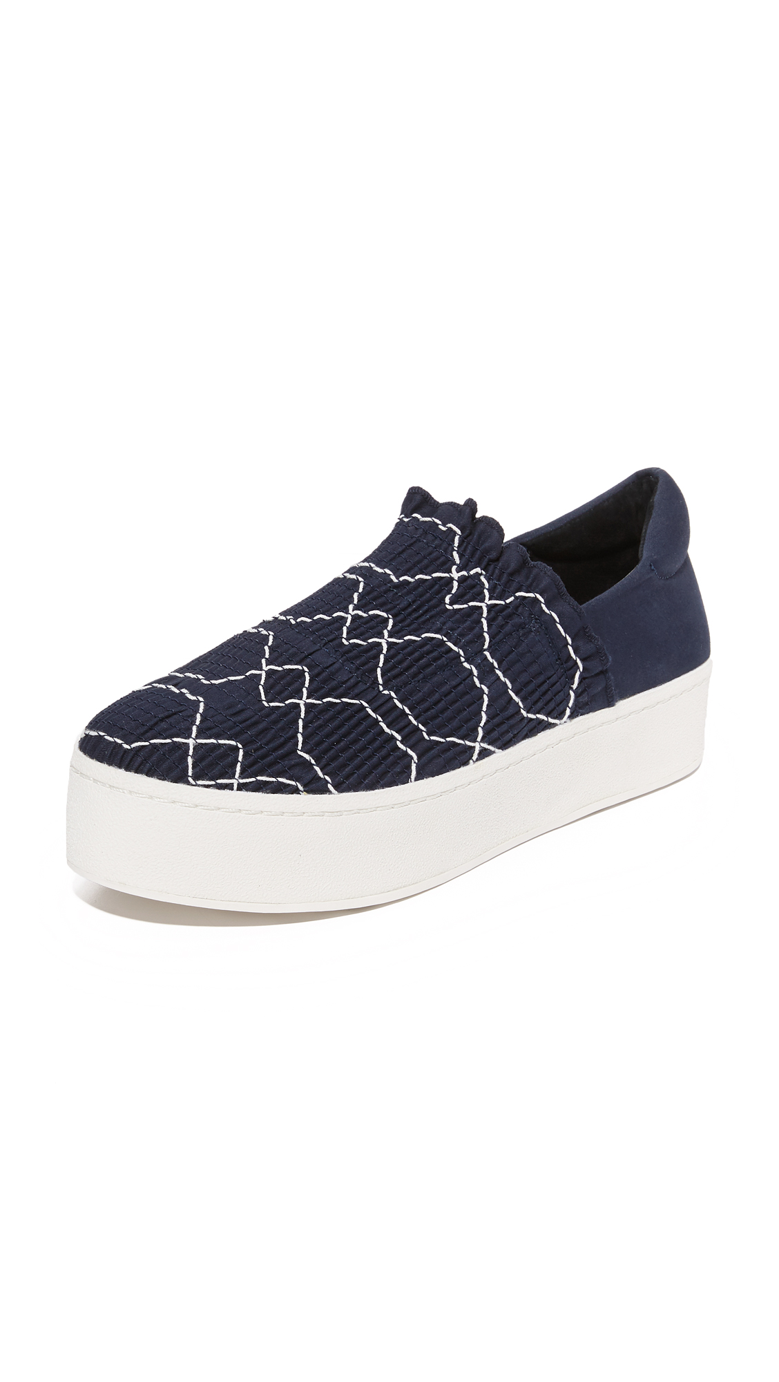 opening ceremony female opening ceremony cici woven platform sneakers deep navy