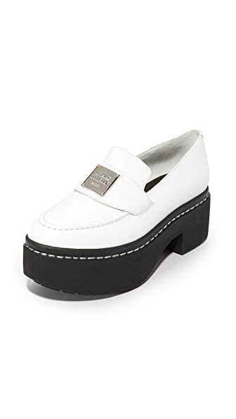 Opening Ceremony Agnees Platform Loafers - White